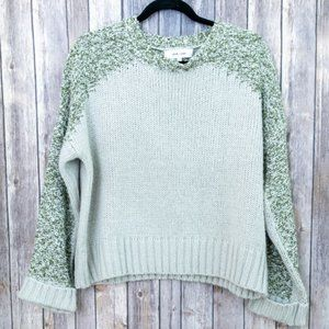 John + Jenn Mohair Blend Chunky Knit Sweater S
